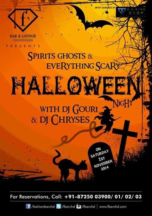 Halloween with DJ Gouri &amp Chryses at F Bar Chandigarh on 1 - November 1 Halloween
