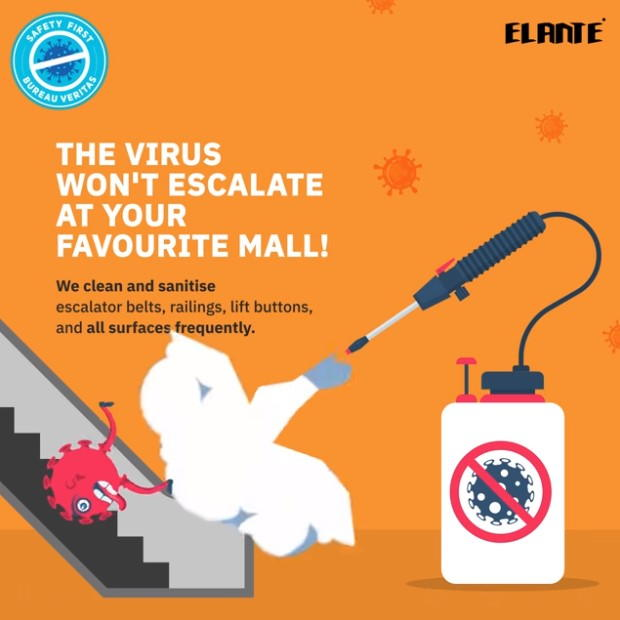 Elante Mall, COVID 19 Safety Measures