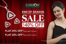 Carbon Fine Jewellery End Of Season Sale from 5 January to 28 February 2013 - Flat 40% off on Select Products