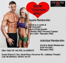Ozone Fitness N Spa Valentine Offer Valid till 14 February 2013