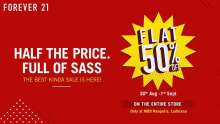 Ludhiana's First-Ever FLAT 50% OFF SALE at Forever 21 MBD Neopolis Mall  30th August - 1st September 2019