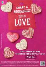 Say something special with Krispy Kreme's one of a kind heart shaped Valentine's Doughnuts